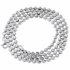 10K White Gold 3MM Moon Cut Italian Beaded Ball Chain Necklace 22 - 32 Inches