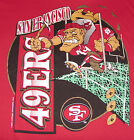 Vintage 1992 SF 49ers COLLEGE CONCEPTS T-Shirt *MAD MINER* Red NWT New Old Stock