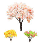 DIY Sakura Tree Miniature Micro Fairy Garden Ornament Plant Pot Dollhouse Decor