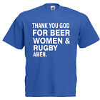 Beer Women And Rugby Adult T Shirt