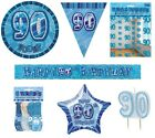 90th Birthday/Age 90 - BLUE PARTY ITEMS Decorations Tableware - Large Range