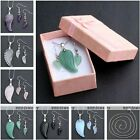 1 Set Fashion Womens Jewelry Gemstone Angle Wing Pendant Chain Necklace Earrings