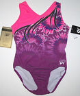 Nwt New GK Elite Leotard Leo Simone Biles Pink Purple Polytek Beautiful Adult