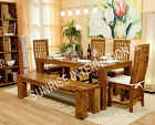 Stylish Wooden Dining table / Chair / Bench furniture set (SUN-DSET148/149)