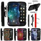 For Huawei Tribute | AT&T Fusion 3 Holster Clip Stand Case Galaxy with Specs