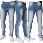 Loyalty & Faith Mens Corona Skinny Light Wash Stretch Scuffed Denim Biker Jeans