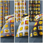 "Pair Of Expressions Emoji Emoticons Curtains 66"" x 72"" In Black Grey Or White"