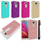 For Huawei Honor 5X Luxury Shockproof HYBRID Bling Crystal Case Cover + Pen