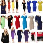 European Business Women Office Wear To Work Party Bodycon Pencil Career Dress us