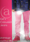 ✿ NEW GIRL HOT CANDY PINK LONG STRETCHY SLIM FIT SKINNY STRAIGHT JEANS TROUSERS
