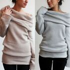 New Lady Gray Khaki Slim piles collar solid color long-sleeved T-shirt blouse