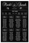 Personalised Wedding Seating Plan Chalkboard Style Wedding Table Seating Planner