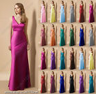 Clearance fuchsia pink girl v neck long evening prom maxi bridemsaid dress