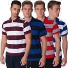 SLAZENGER NEW MENS POLO TEE TOP STRIPED SHORT SLEEVE COLLARED T SHIRT S - XXL