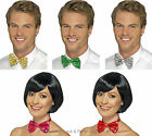 Sequin Dicky Bow Tie Fancy Dress Mens Ladies Dickie Bowtie Dance Show Theatre