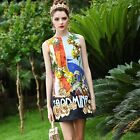 Italy Hot 16 New Runway Fashion Printing Beads Embroidery Holiday Vest Dress