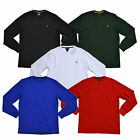 Polo Ralph Lauren Mens Shirt Long Sleeve Thermal Waffle Sleepshirt Pony T-Shirt