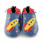 Rocket Soft Leather Baby Shoes | Toddler Slippers Boys | Sizes 0 - 3 Years