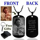 Jesus Personalized Photo Letter Name Dog Tag Pendant Necklace Custom Engraved
