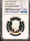 2016 S Silver Kennedy Half Dollar Early Releases NGC PF70 Ultra Cameo BLUE LABEL