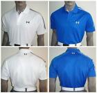 Men's Under Armour Shoulder Stripe Tour Golf Polo Shirt $75 (000, 519)