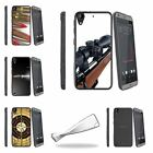 For HTC Desire 530 | Desire 630 Slim Fitted Flexible Clear TPU Case Guns Weapon