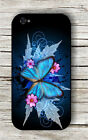 BUTTERFLY BLUE WINGS FRACTAL CASE FOR iPHONE 4 5 5C 6 -h59sf