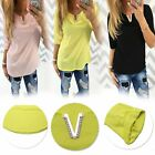 New Arrival Women Casual V Neck T-Shirt Summer Simple Tops Tees Charm Clothes