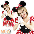 Deluxe Minnie Mouse Ladies Fancy Dress Official Disney Womens Adults Costume New