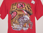Vintage 1995 San Francisco SF NINERS 49ers SALEM T-Shirt Red NWT New Old Stock