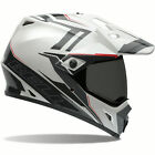 Bell MX-9 Adventure Barricade Dual Sport Motorcycle Helmet  White/Gray