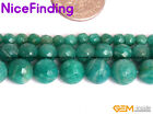 4,6,8,10mm Natural Faceted Russian Amazonite Round Beads For Jewelry Making 15''