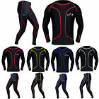 Compression Tights & Top Set Base Layer Body Armour Skin Fit Top Trousers