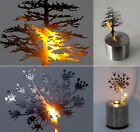 Stainless LED Candle Shadow Projection Lamp Romantic Atmosphere Nightlight