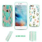 Include 2 Pcs Tropical Plant Cactus Hard TPU Plastic Case For Iphone 6S 6Plus 5S