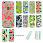Fast Ship Flamingo Tropical Plant Cactus TPU Hard Back Case For Iphone 6 Plus 5S