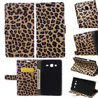 Leopard Leather Wallet Card Case Stand Cover For Lenovo Samsung Smart Phone KSN