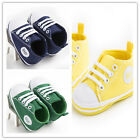 Newest Infant Baby Boy Girl Crib Shoes Cool Lace UP Soft Sole Sneakers Toddler