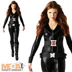 Black Widow Superhero Ladies Fancy Dress The Avengers Costume Outfit UK 6-18