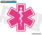 Star of Life Decal Pink Paramedic First Responder EMT EMS Rescue Sticker EMV