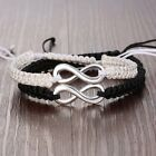 2pcs Infinity Charms Couple Lover Bracelet Set Personalized Braid Friendship NEW