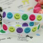 FOE FOLD OVER ELASTIC - SMILEY FACES - PRINTS BY THE METRE