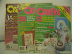 CRAFTS MAGAZINES, 3 DIFFERENT YEARS,16 PAGES OF FULL-SIZE PATTERNS IN EACH ISSUE