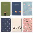 Lovely Animals Flower Faux Leather Passport Holder Cover Travel Wallet Organizer