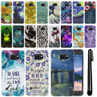 For Samsung Galaxy S6 Active G890 PATTERN HARD Back Case Phone Cover + Pen
