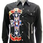 Sz S M L XL 2XL  Gun n Roses Long Sleeve Shirt Punk Biker Tee Many Size Jgr1