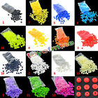 15 Colors Plastic Resin Fastener Snaps Buttons For Diaper Clothes 100 Sets