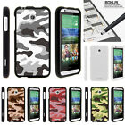 For HTC Desire 510 Case Hard Snap On 2 Piece Slim Shell Army Camouflage