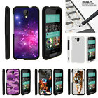 For HTC Desire 520 Case Hard Snap On 2 Piece Slim Shell Galaxy Stars