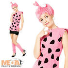 Pebbles Flintstone Fancy Dress Ladies The Flintstones Costume+ Wig UK 8 10 12 14